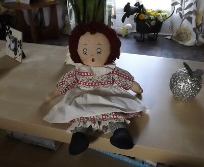RARE Krueger Aftermarket Cloth Raggedy Ann Rag Doll w Orig Outfit Clothes!!
