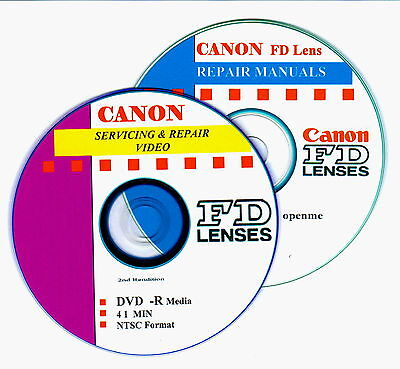 CANON FD Lens Combined Master Servicing & Repair Video on DVD & Data on CD  :o)
