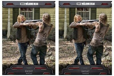 2x 2017 VERSUS WAVE 1 DWIGHT The Walking Dead Card Trader Digital