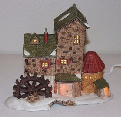 RARE 1985 Dept 56 Dickens Village Cottage Mill Limited Edition w/ Box Department