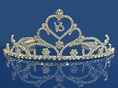 Sweet 16 Birthday Princess Party Prom Crown Crystal Tiara 4165