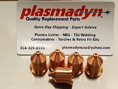 5 x 120927 Nozzle 80A - Mfg in US by PlasmaDyn - *SKIP THE KNOCKOFF JUNK*