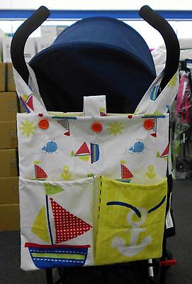 PRAM/STROLLER BAG/ORGANISER Ideal to hold - WIPES, BIBS, NAPPIES etc