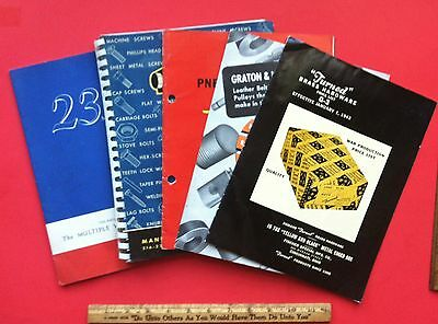 Vintage 1940's WW2 Manufacturing Production Supply Catalogs VERY RARE