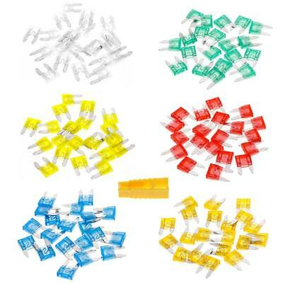 120Pcs Mixed Mini Blade Assortment Set Car Truck DG Motorcycle SUV Fuses Kit US