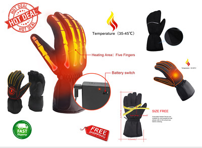 Winter Gloves Electric Rechargeable Battery Heated Thermo Warmer Powered Hand