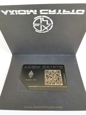Ethereum Offline Cold Wallet Secure Metal Storage Gift Card AxiomCrypto ETH