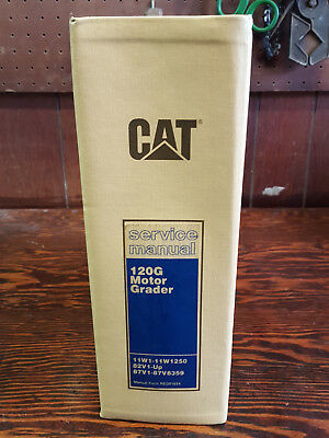 Caterpillar 120G  MOTOR GRADER Service  *AND*  Parts  Manuals     3304 engine