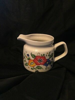 1990s Provincal by Home Concepts Stoneware- Floral Print  Creamer