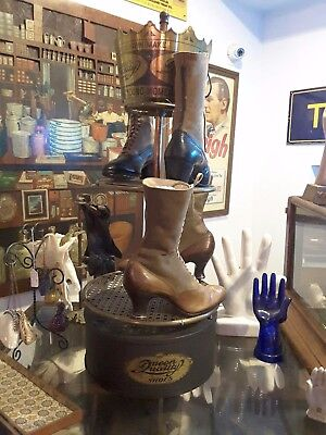 Antique Queen Quality Rotating Shoe Display including Shoes