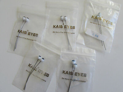 KAIS GLASS DOLL EYES  Germany NOS- 5MM, wire-1 pair
