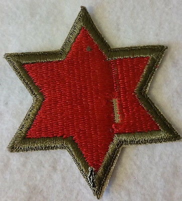WW2 WWII US 6th Army Patch,Original,Shoulder,Division,Corps,Infantry,Edge,U.S.