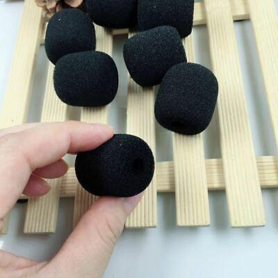 10PCS Microphone Headset Grill Windscreen Sponge Foam Pad Black Mic Cover Hot