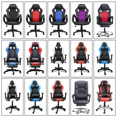 Gaming Computer Chair Office Ergonomic Executive Armchair Desk Racing Chairs