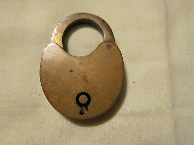 VINTAGE Brass Padlock No Key