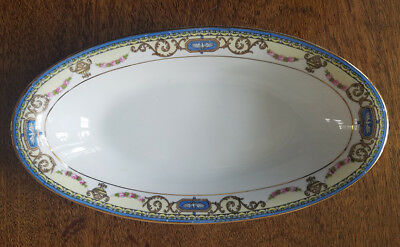 "NORITAKE, China, ""SYLVANIA,"" 8 inch Oval Relish Dish"