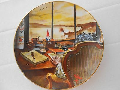 """Legends of the Gnomes Rien Poortvliet Porcelain Plate """"LITTLE COUNSELOR"""""""