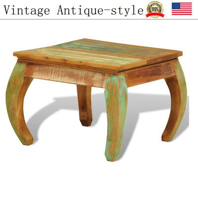 Vintage Antique Coffee Table Reclaimed Wood Living Room Furniture Pure Handmade