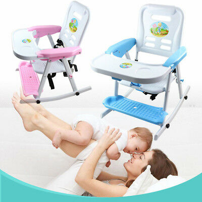 Baby Highchair 4 in 1 Infant High Feeding Seat Toddler Rocking Adjustable Chair