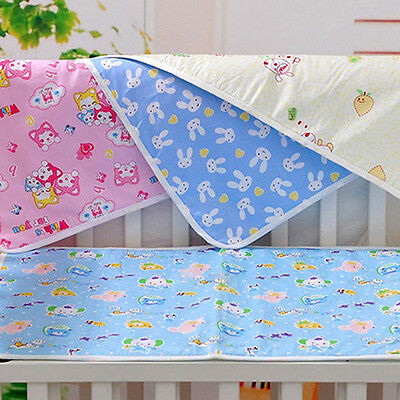BL_ Reusable Baby Infant Diaper Urine Mat Waterproof Changing Cover Pads Exquisi