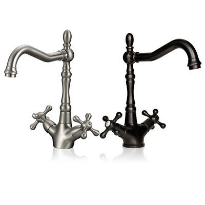 Vintage Style Oil Rubbed Bronze Bathroom Faucet Basin Sink Mixer Tap Single Hole