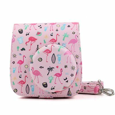Pink Flamingo Carrying Protective Case for Fujifilm Instax Mini 8 8+ 9 Camera