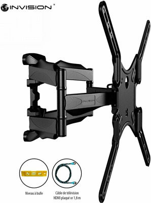 Invision® - Support Mural TV Double L / Bras Inclinable et Orientable