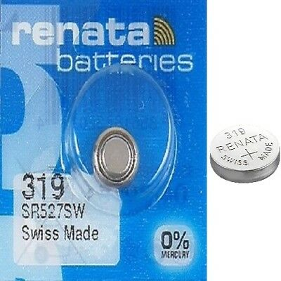 Renata 319 Watch Batteries x2 Swiss Made Cell Button Silver-Oxide 1.55v SR527SW