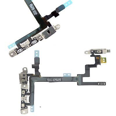 Power Button Volume and Mute Button Flex Cable With Metal Bracket For iPhone 5