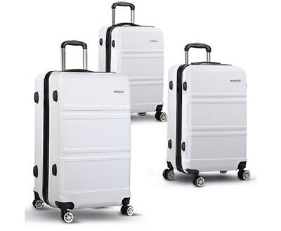 "3pc Luggage Set 20"", 24"" and 28"" – White"