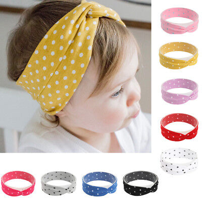 Cute Baby Toddler Infant Headband Dot Printing Stretch Hairband Headwear Unisex