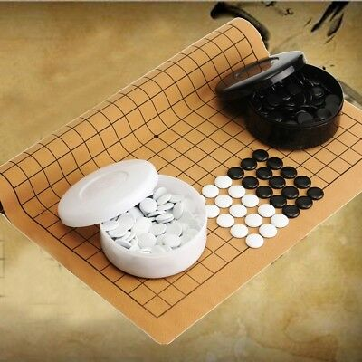 361pcs/set Go Game Weiqi Professional Go Bang Mental Suede Leather Sheet Board