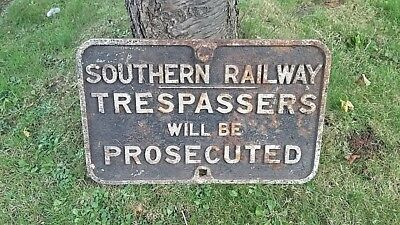 Architectural Salvage Southern Railway Sign