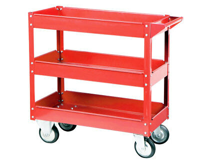 30 in Steel Service Cart 3 Tier Shelf 450LB Perfect Utility Cart For Garage Shop