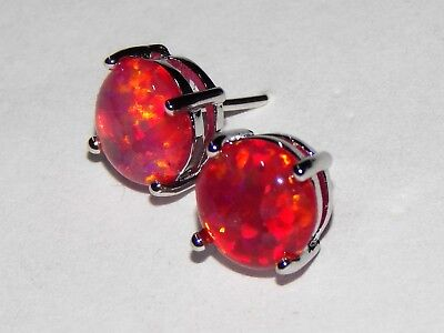 stud picclick uk opal earrings beautiful fire red