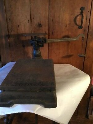 Very Old Fairbanks Cast Iron Double Scale