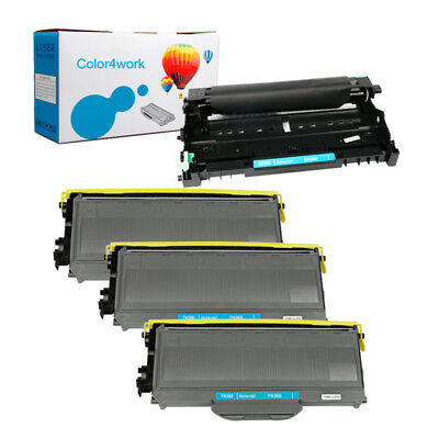 4P For Brother MFC-7345N MFC-7440N 7840W Toner Drum TN360 TN-360 DR360 Drum Unit