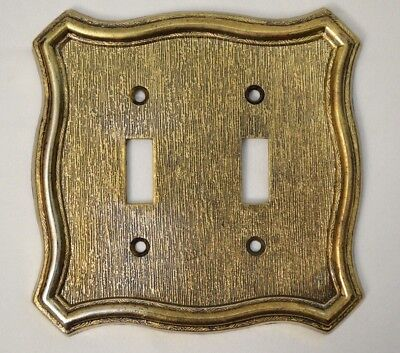 American Tack & HDWE Co Double - Dual Light Switch Plate Cover VTG 1968 Made in