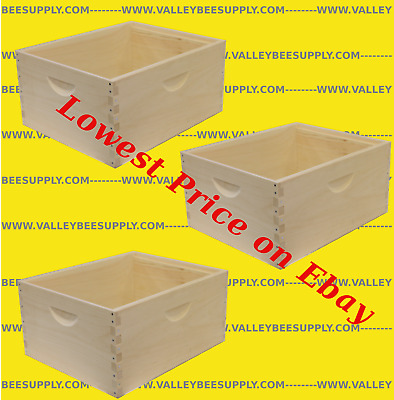 """10 Frame Unassembled Deep Hive Bodies """"3 pack"""" - Free shipping"""