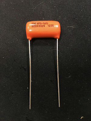100 PCs SPRAGUE 6PS .022uf 600V Capacitor 0.022uF 223 Orange Drop SBE CDE Guitar