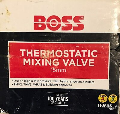Boss 15mm TMV Thermostatic Blending/Mixing Valve