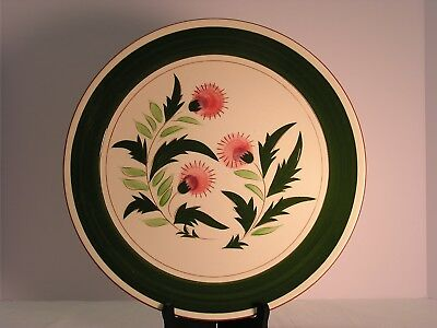 """Stangl 121/2"""" Chop Plate/round Platter Pink Thistle Ex. Condition"""