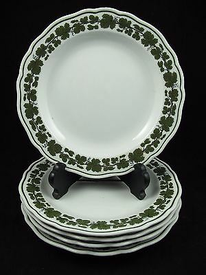 FULL GREEN VINE by MEISSEN Porcelain Set of 5 Salad Plates FACTORY 1sts