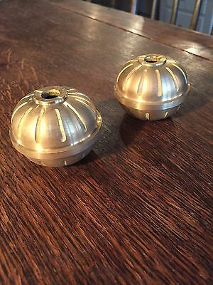 Pair of New Old Stock Cast Brass Two Piece Balls - Vintage Lighting Parts