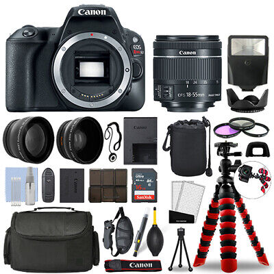Canon Rebel SL2 DSLR Camera with 18-55mm STM+ 16GB 3 Lens Ultimate Accessory Kit