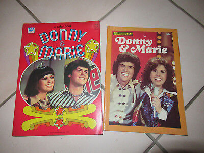 Vintage Donnie & Marie Osmond A Color Paper Doll / A Golden All Star Book Lot