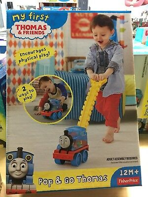 Thomas Train Corn Popper Toy Fisher Price Pop & Go Push Play Bouncing Kids Gift