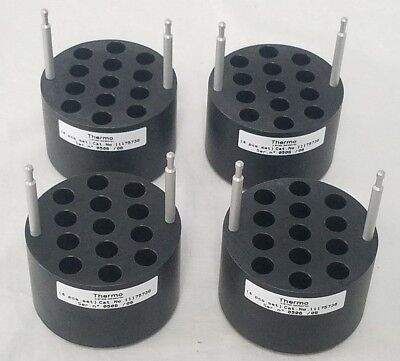 Set of 4 Thermo Scientific Centrifuge Bucket Adapter / Inserts 13x2mm - 11175736