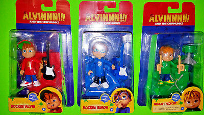 Alvin And The Chipmunks Toy 3 Pieces Stage Connect And Build Figures Collectible