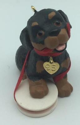 1995 Puppy Love Hallmark Ornament #5 Rottweiler